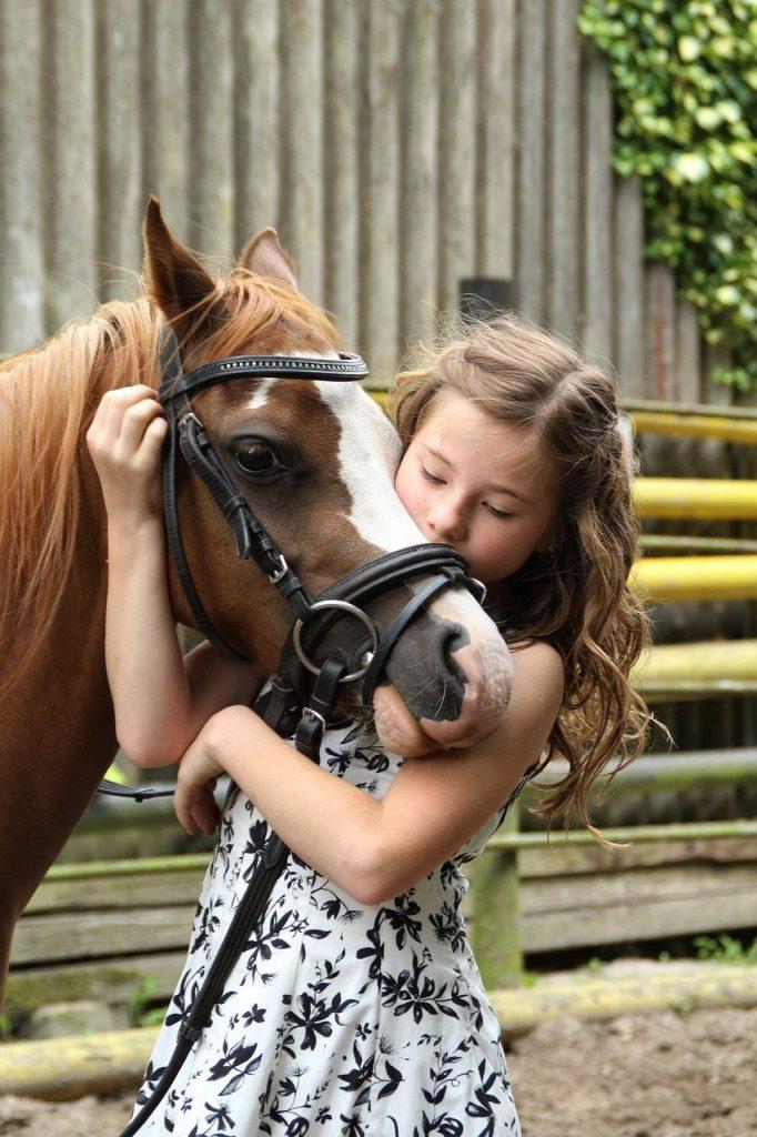 pony, girl, horse